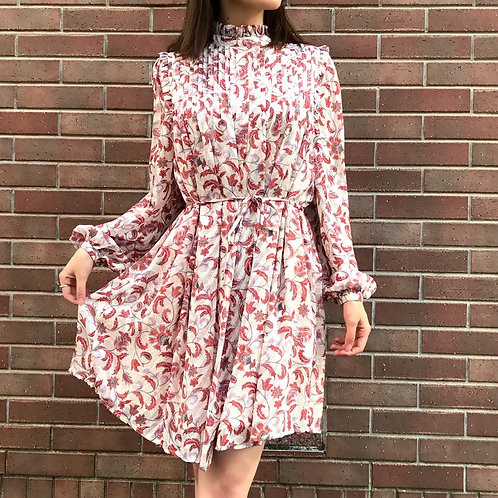 paisley printed one-piece(pink)