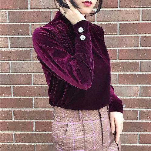violet velours tops