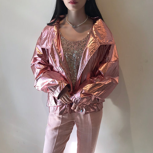 pink glitter blouson