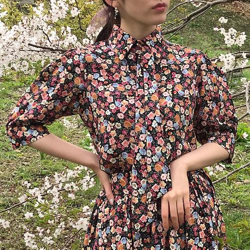 flower garden blouse