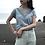 Thumbnail: sea blue cotton knit tops