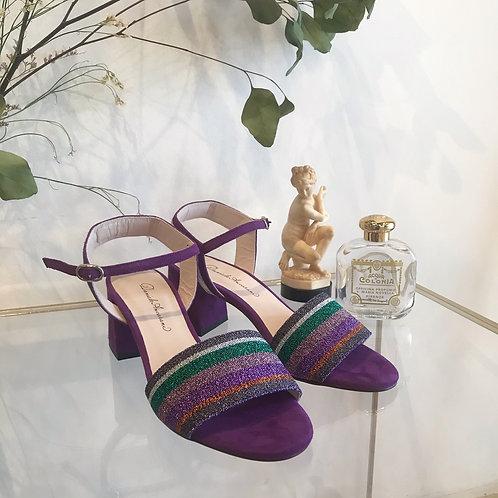 purple rainbow sandals
