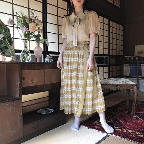 mix gold glitter skirt