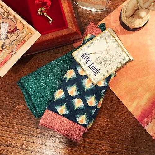 Like vintage socks(2 pack set/300)