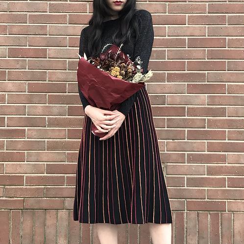 glitter line skirt(cassis)