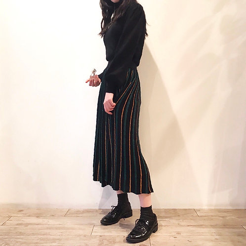 black lame  pleated skirt