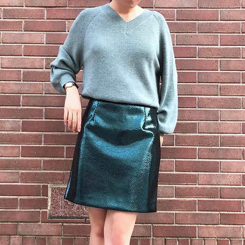 mint green lame knit