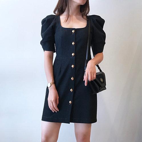 square neck mini dress(navy)