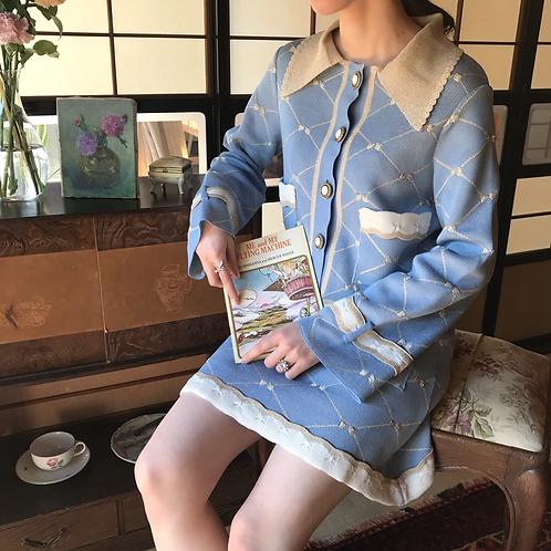 macaron blue cotton skirt