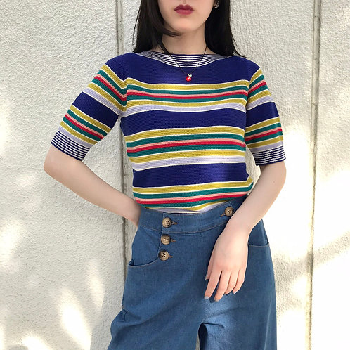 60s  border knit tops