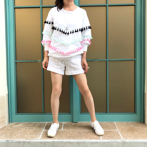 cotton lace short pants