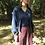 Thumbnail: night blue cotton cardigan
