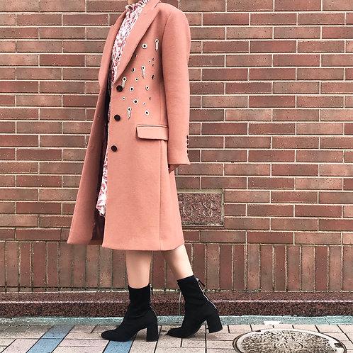 pink beige coat
