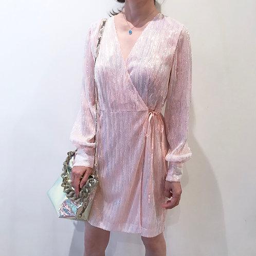 pink spangle dress