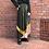 Thumbnail: green velours pleated skirt