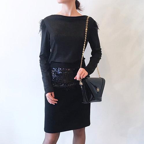 black cashmere  skirt