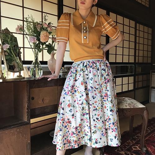 flower painting skirt