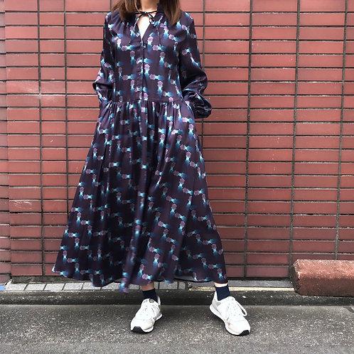 bordeaux long dress