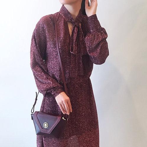 bordeaux glitter dress