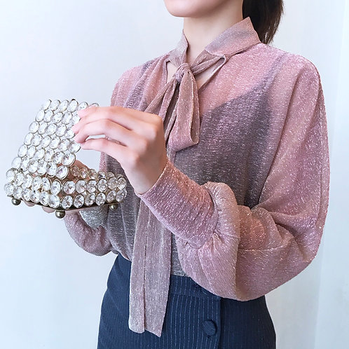 see-through blouse(pink beige)