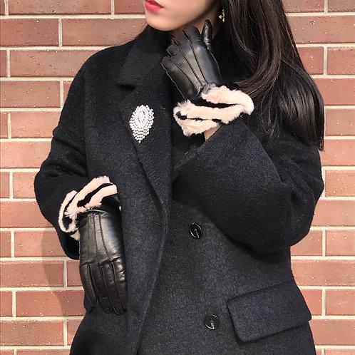 marble fur gloves