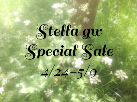 Stella GW Special Saleのお知らせ