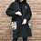 Thumbnail: black shawl collar coat