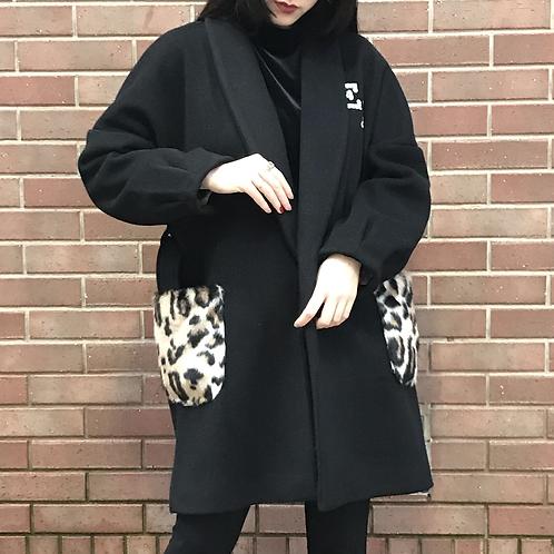 black shawl collar coat