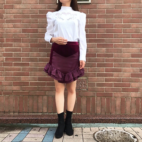 bordeaux velours skirt