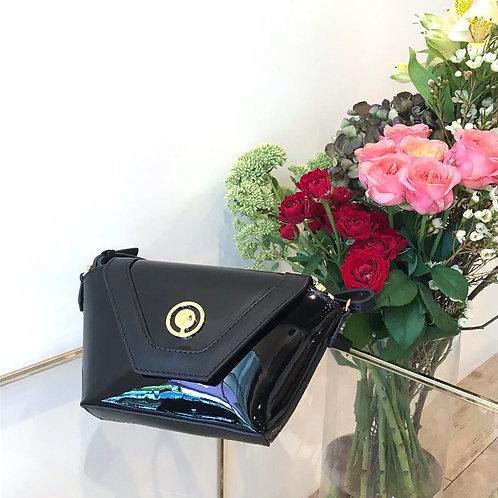 black enamel mini bag
