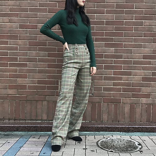 green checked pants