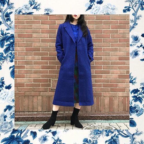 royal blue classical coat