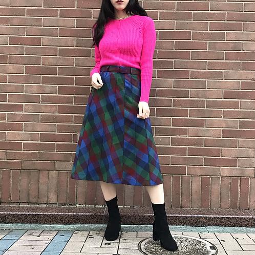neon pink knit cardigan