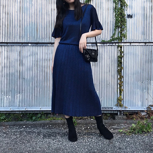 midnight blue knit dress