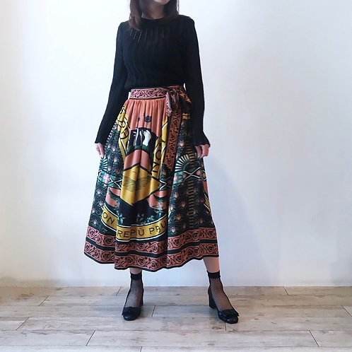 film art skirt[mixed silk]