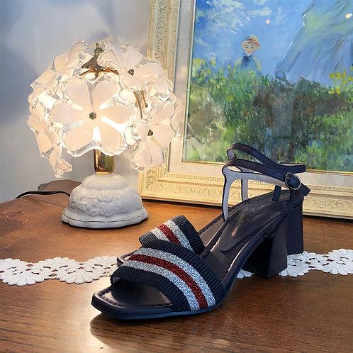 tricolore sandals