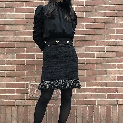 black fur skirt