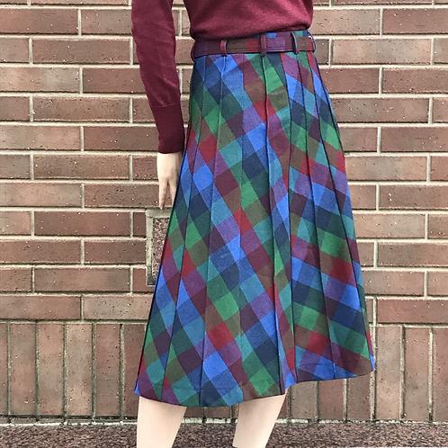 london girl checked skirt