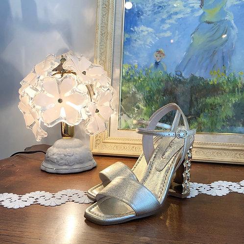 light gold sandals