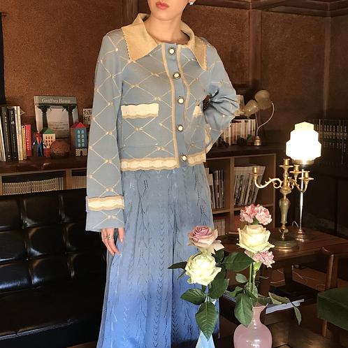 macaron blue cotton jacket