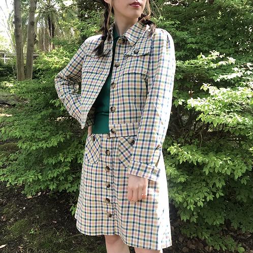 british checked mini skirt