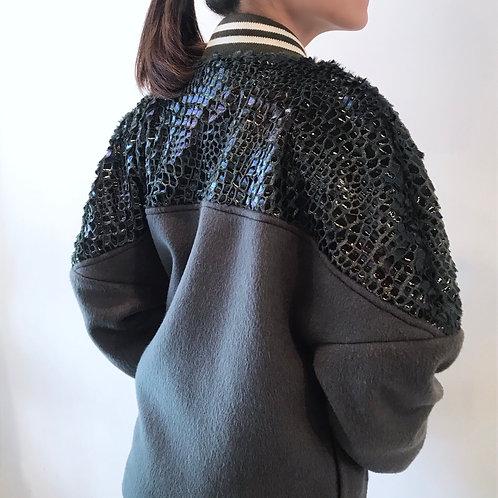 gray cashmere  blouson
