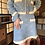Thumbnail: macaron blue cotton skirt