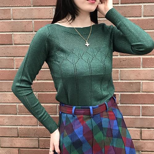green glitter tops