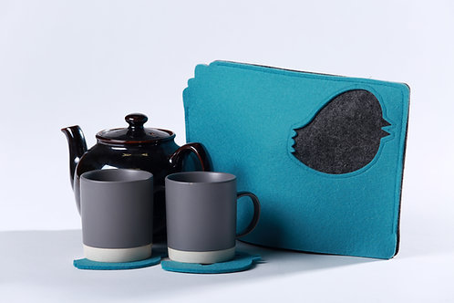 Oh what a tweet! Tea Cosy + 2 coasters
