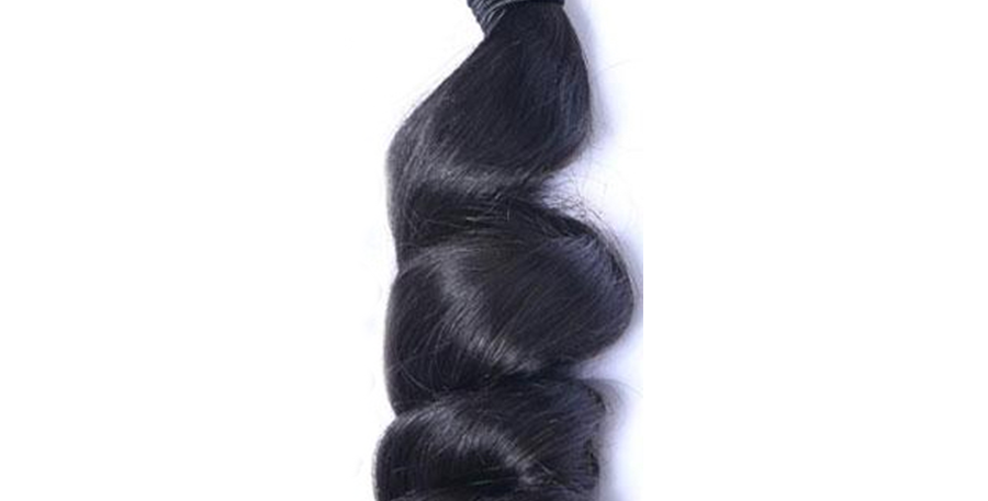 LOOSE CURLY VIRGIN HAIR WEAVE