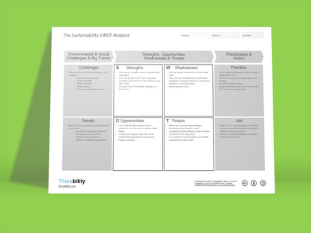 The Sustainability SWOT Analysis - A tool for Strategic Sustainability Management & Innovation