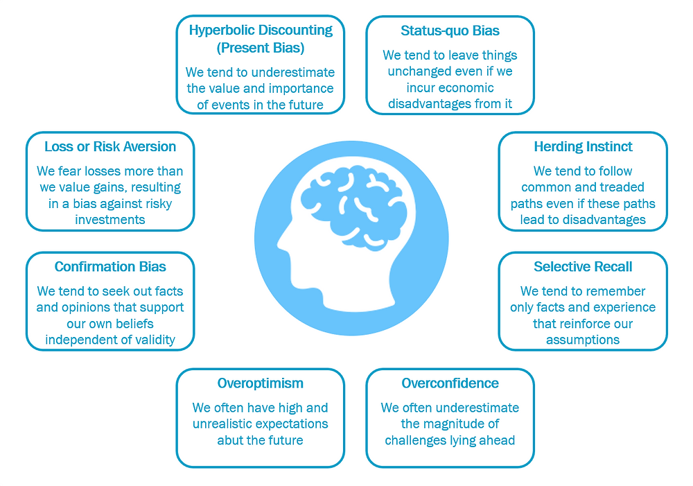 Cognitive biases contributing to short-term thinking