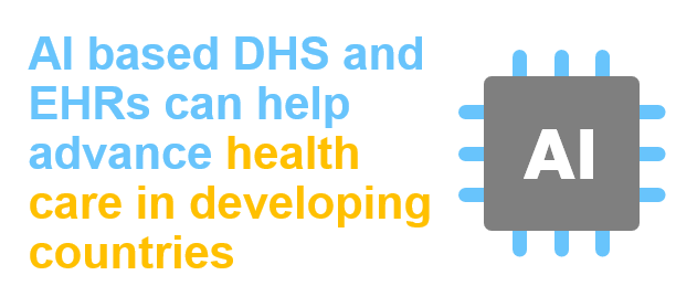 AI based digital health solutions can help advance health-care in developing countries