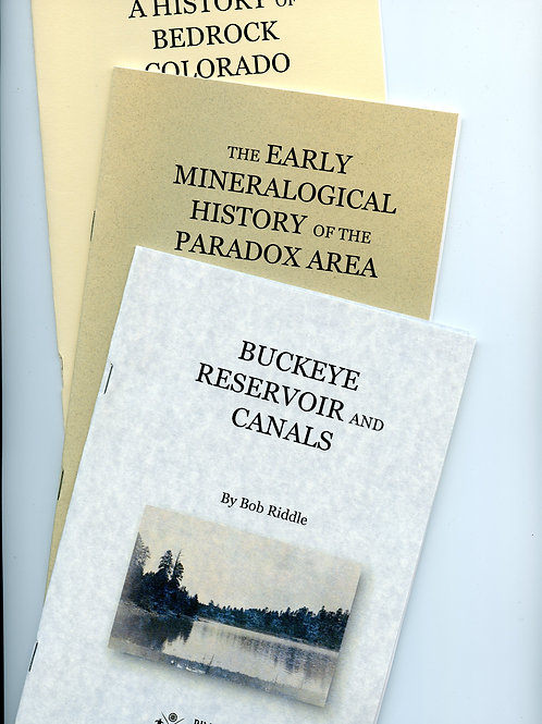 Bob Riddle Thesis booklets (3)